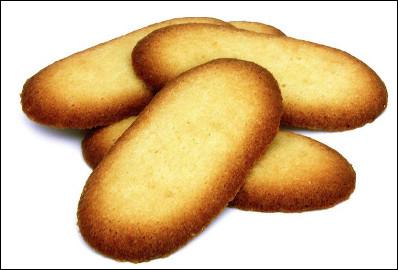 Quel est ce biscuit sec de forme oblongue à base de farine, de sucre et d'oeuf, spécialité de Lille ?