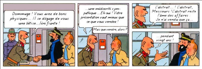 """Pour une fois, Haddock et Tintin endossent des rôles de """"caves""""... Par contre, le titre du film à trouver est, pour cette fois, l'authentique !"""