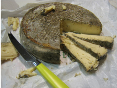 Quel est ce fromage de lait de vache, à pâte pressée non cuite avec une croûte à moisissures, une spécialité d'Auvergne ?