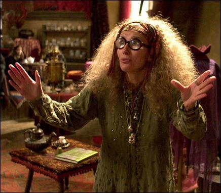 Quelle créature le professeur Trelawney affirme avoir vu apparaître dans la tasse d'Harry ?