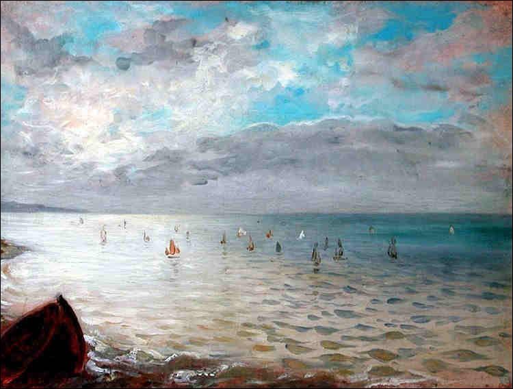 "Qui a peint ""La Mer vue des hauts de Dieppe"" ?"