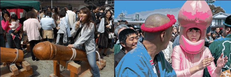 """La """"Fête du Pénis de Fer"""" (Kanamara Matsuri) shinto a lieu chaque année en avril : venez vous faire une tête de gland ou enfourchez la sainte Verge à ..."""