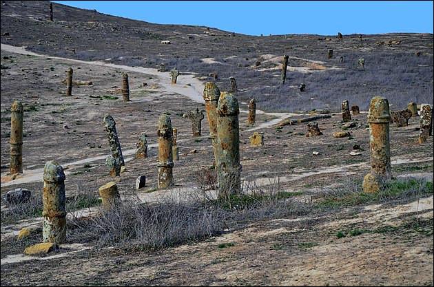 On s'est longtemps demandé à quoi pouvaient bien servir les 600 statues de forme clairement phallique érigés dans cette plaine du .... Mais les archéologues ont trouvé : de quoi s'agit-il ?