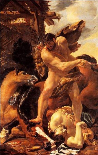 Qui est ce héros capturant les juments carnivores de Diomède ?