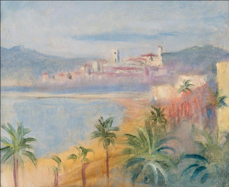 """À qui doit-on cette toile représentant """"Cannes, la Croisette"""" ?"""