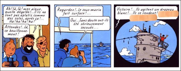 """Dans """"Coke en stock"""", Tintin emploie une locution étrangère pour signifier, en quelque sorte, que """"tout est bien qui finit bien"""" : laquelle ?"""