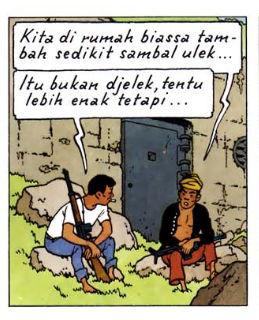 Tintin cause l'étranger !