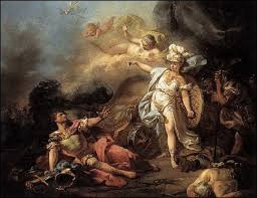 Évoquant sur leur dispute sur le sort de Troie, ''Combat de Mars contre Minerve'', est un tableau peint par un néo-classique. Qui en est l'auteur ?