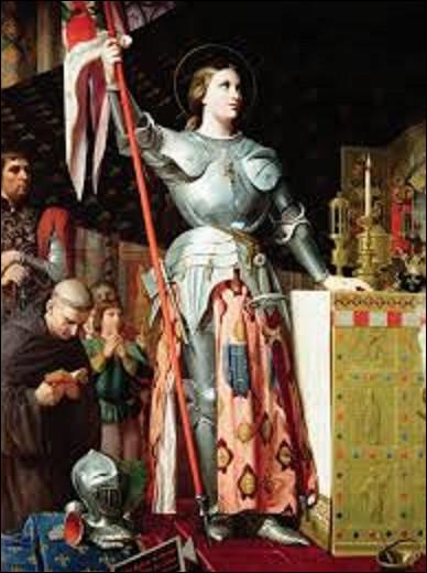 Lequel de ces romantiques a exécuté cette toile en 1854 intitulée ''Jeanne d'Arc au sacre du roi Charles VII'' ?