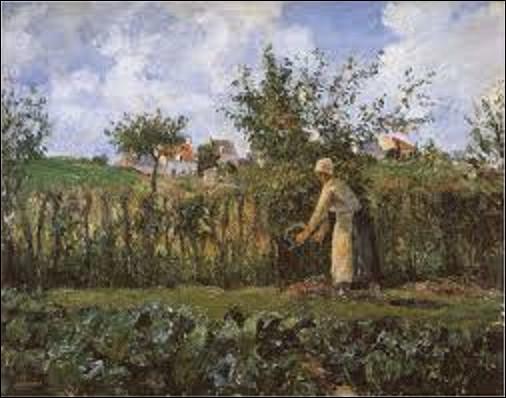 ''Dans le jardin potager'' est une toile d'un impressionniste, réalisée en 1878. Qui en est l'auteur ?