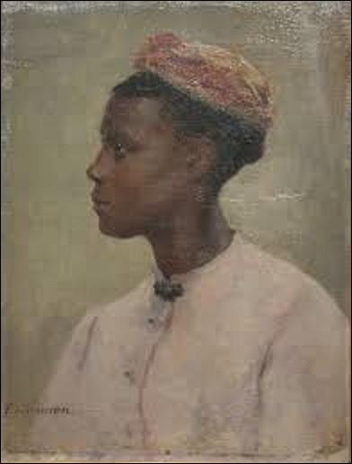 Huile sur toile conservée au musée des Beaux-Arts de Pau, ''Jeune Africaine'' est un tableau d'un peintre académique qui date de la fin du XIXe siècle. Qui a réalisé ce portrait ?