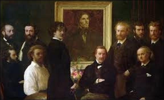 Datant de 1864, ''Hommage à Delacroix'' est une toile qui fut exécutée par un réaliste, et conservée au musée d'Orsay. Qui a réalisé ce tableau ?