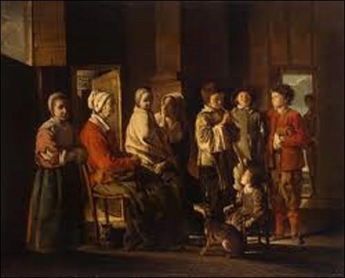 Vers 1640, lequel des frères Le Nain a exécuté cette toile nommée ''La Visite à la grand-mère'' ?