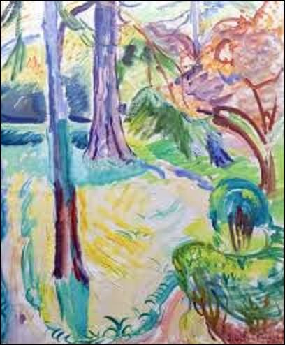 Quel fauviste est l'auteur de cette toile intitulée, ''Jardin à Honfleur'', peinte en 1902 ?