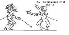 Combat non loyal : quel carton utilisera l'arbitre ?