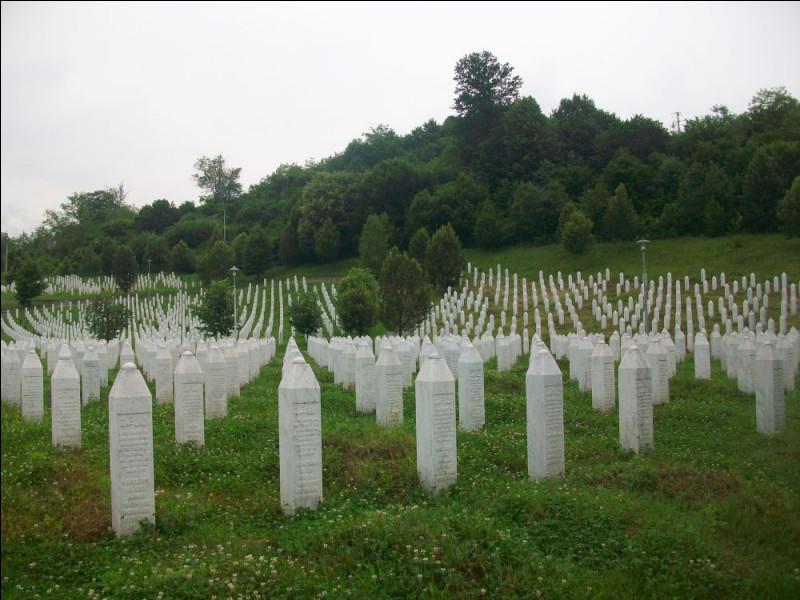 Du 11 au 16 juillet 1995, une vaste opération de nettoyage ethnique contre les musulmans bosniaques aboutit au massacre systématique d'environ 8000 personnes. Dans quelle petite ville de l'actuelle République serbe de Bosnie ce génocide a-t-il été perpétré ?