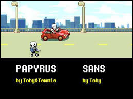 Dans quelle fin voit-on Papyrus rouler une voiture et Sans un vélo ?