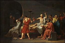 Qui a peint ce tableau qui représente la mort de Socrate ?