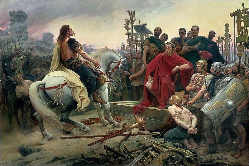 Quels sont les 2 personnages historiques présents sur ce tableau ?