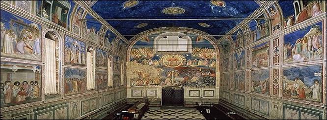 Quel artiste florentin (né au XIIIe siècle et mort au XIVe siècle) est à l'origine de ces vagues déferlantes de bleu ?