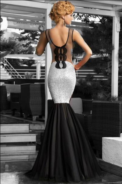 Quel nom est attribué à cette robe du soir ?