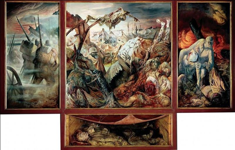 Comment appelle-t-on un tableau composé d'un panneau central et de deux volets mobiles pouvant se rabattre ?