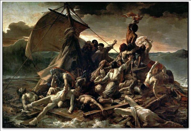 Quel est le nom donné à ce tableau, peint par Géricault en 1818 ?