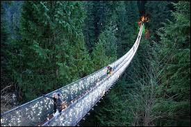 Au Canada, vous aurez la chance de pouvoir traverser le pont suspendu de Capilano.