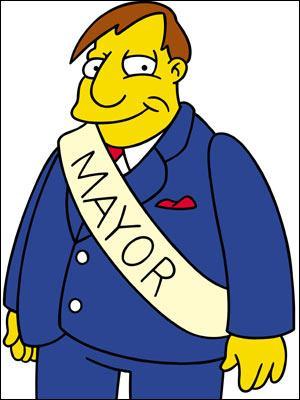 Qui est le maire de Springfield ?