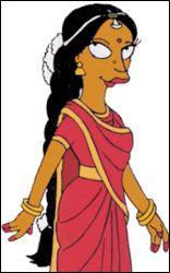 Comment s'appelle la femme d'Apu ?
