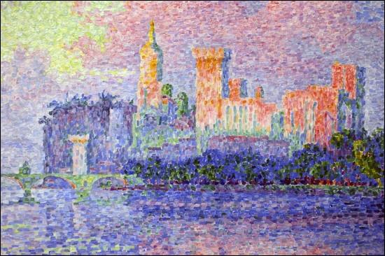 """Qui a peint """"Le Palais des papes à Avignon"""" ?"""