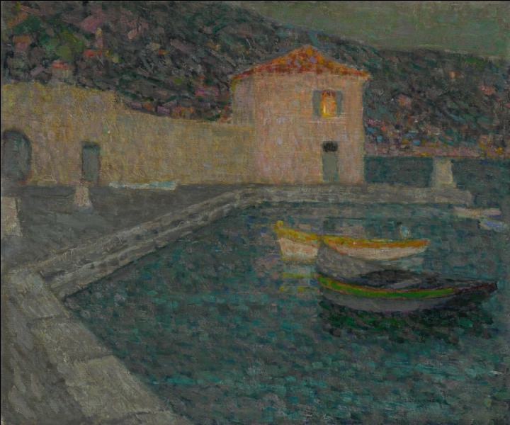 "Sa toile s'intitule ""La Maison de la mer"" :"