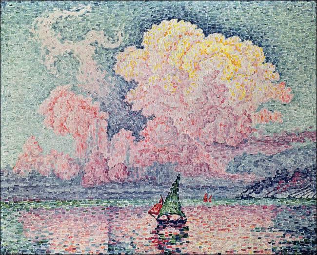 """Et voici """"Le Nuage rose"""" toile signée par :"""