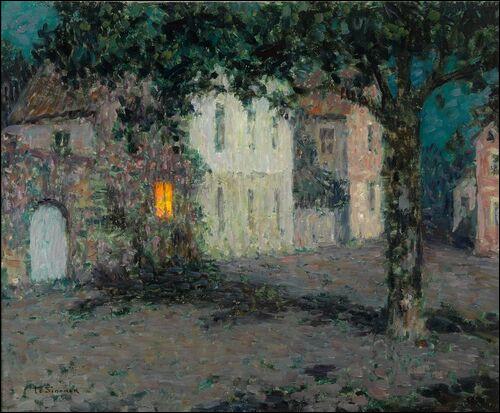 """Qui a peint """"Place de Cherbourg au clair de lune"""" ?"""
