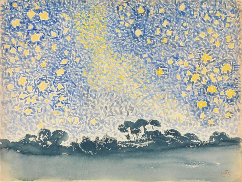"""Qui a peint ce """"Paysage avec le ciel"""" ?"""