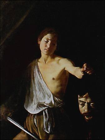 Le Caravage est un peintre italien , il s'est lui même peint sur une scéne biblique . Qui incarne -t- il sur ce tableau ?