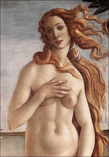 Le tableau le plus connu de Sandro Botticelli est 'La naissance de Vénus' . Sur ce tableau qu'est représenté à la gauche du personnage ?