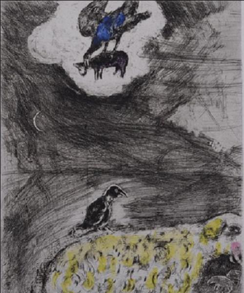 Qui est le peintre biélorusse, auteur de cette gravure intitulée ''Le corbeau voulant imiter l'aigle'' ?