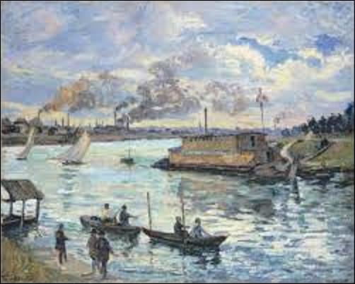''Paysage de rivière'' est une toile qui fut réalisée en 1890. Quel impressionniste a exécuté ce tableau ?