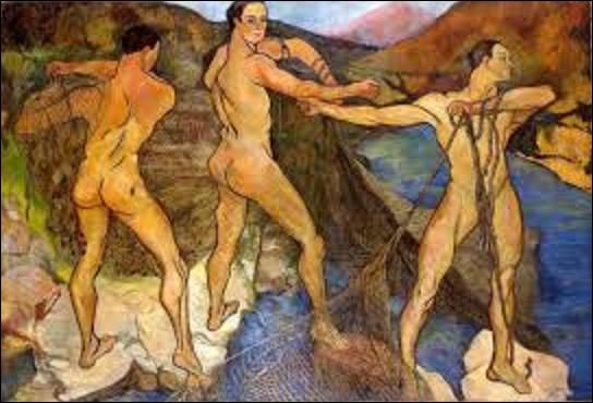 À quelle postimpressionniste doit-on ce tableau nommé ''Le Lancement du filet'' ou ''Lanceurs de filet'' en 1914 ?