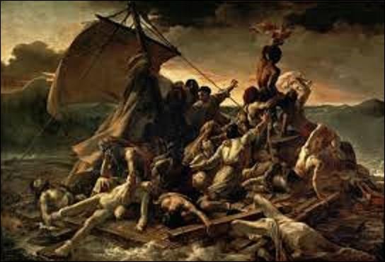 Commençons gentiment. D'une dimension de 4,91 m de haut sur 7,16 de long, ''Le Radeau de la Méduse'' est une huile sur toile réalisée entre 1818 et 1819 et conservée au musée du Louvre. Quel peintre romantique est l'auteur de ce tableau, joyau de notre patrimoine ?