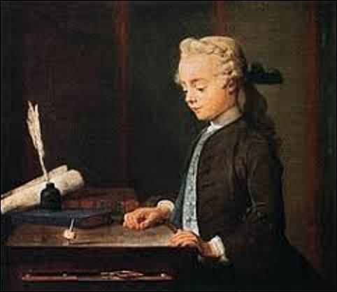 Quel peintre de genre et de natures mortes a réalisé cette toile intitulée ''L'Enfant au toton'' en 1738 ?