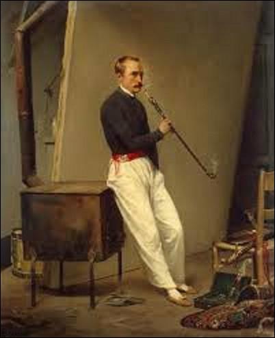 Pourriez-vous me donner le nom de ce peintre orientaliste qui a fait ici son autoportrait en 1835 ?
