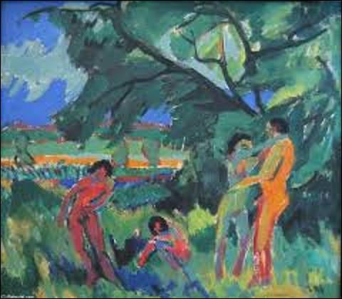 À quel expressionniste doit-on ce tableau nommé ''Des personnes nues en train de jouer'' en 1910 ?