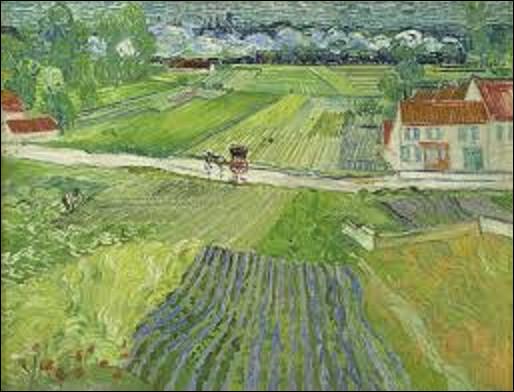 De quel postimpressionniste est ce tableau, daté de juin 1890, intitulé ''Paysage d'Auvers après la pluie'' ou encore ''Paysage avec carriole et train'' ?