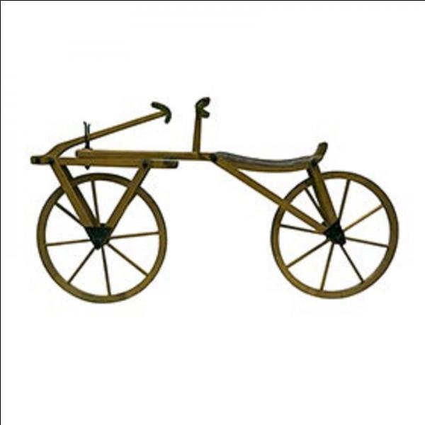 Quel est le nom de cet engin, ancêtre de la bicyclette ?