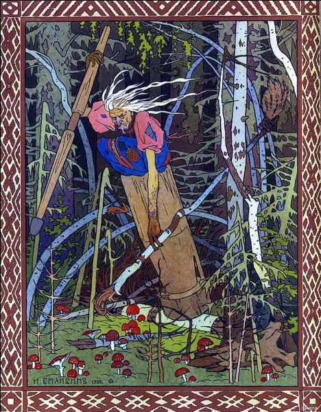 """La """"Baba Yaga"""" est russe, mais pas seulement. On la représente généralement comme une « sorcière » qui capture et mange des enfants. La concernant, voici un détail pour vous ..."""