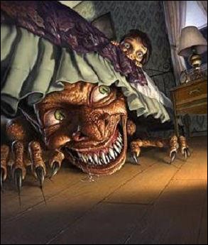 Le Baubas est un genre de croque-mitaine aux longs bras maigres, aux yeux rouges et aux doigts crochus. Cherchez : dans le cagibi, la souillarde* ou sous les tapis, il se tapit ! Mais dans quel pays ?