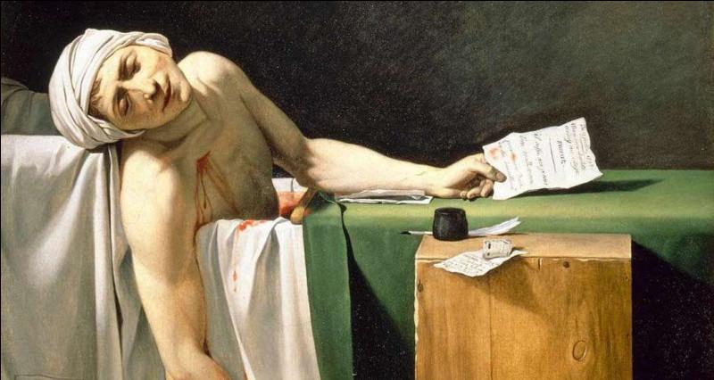 """À quel artiste doit-on le tableau """"L'Assassinat de Marat"""" ?"""