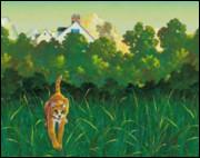 Quel est le premier chat que Rusty rencontre lorsqu'il s'aventure dans la forêt ?